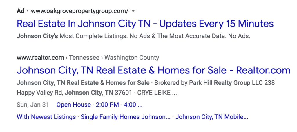 Invest in SEO For Real Estate Agents so you can work your way to the first page of Google.